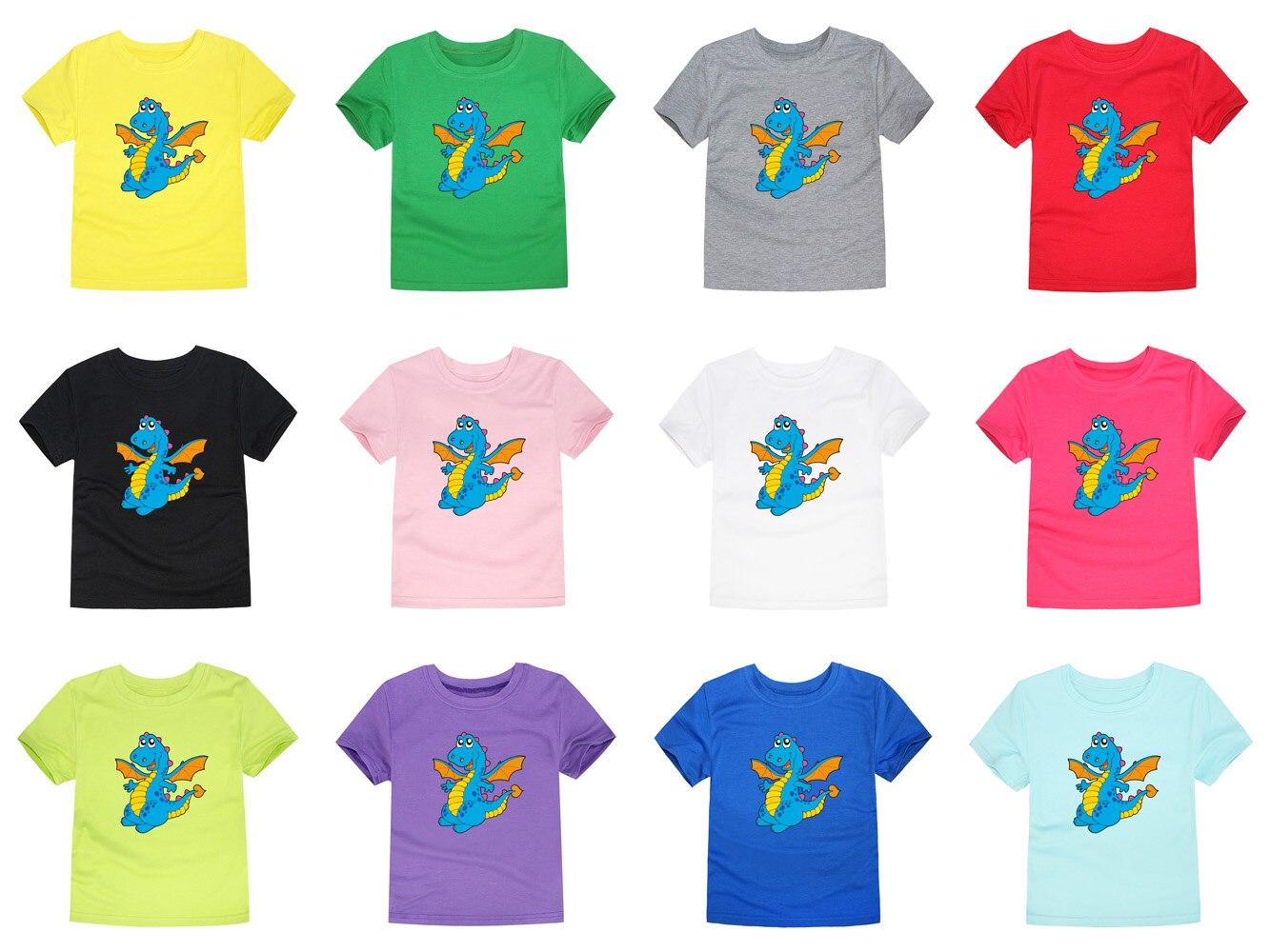 T-Shirt Kids Tops Short-Sleeve Dinosaur Baby-Boys-Girls Children Summer for 2-14-Years
