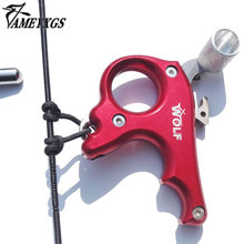 Discount! 2 Color High Stainless Steel Archery Caliper Bow Release For Compound Bow 3 Fingers Trigger Suitable For Right Left Hand Hunting