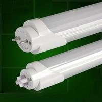 20 peças/lote 24 W tubo de lâmpada LED T8 4FT 120 cm para substituir luminária fluorescente compatível com reator indutivo leitoso tampa transparente