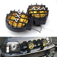BBQ@FUKA Fog Lights For Jeep 4x4 Truck Pickup Roof & Bumper Halogen Driving Fog Spot Light Lamp car accessories