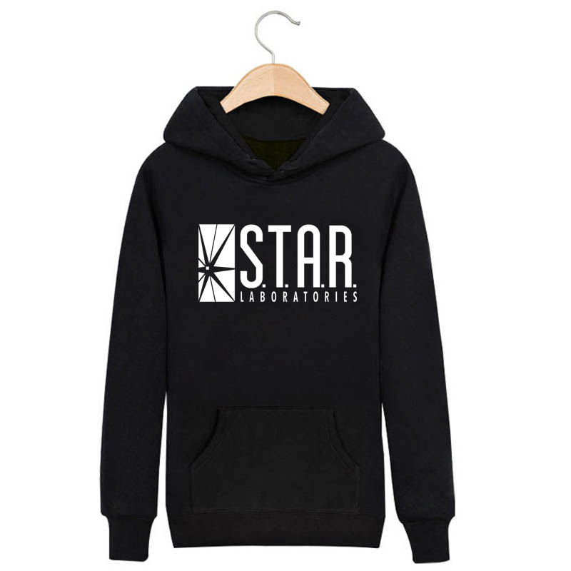 The Flash DC Barry Allen Laboratories Star Labs Hoodie Mens Pullover Sweatshirt Heroes 2017 Male Clothes Arrow Moletom Masculino