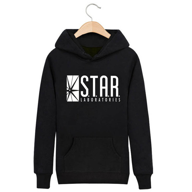 The Flash DC Barry Allen Laboratories Star Labs Hoodie Mens Pullover Sweatshirt Heroes 2016 Male Clothes Arrow Moletom Masculino