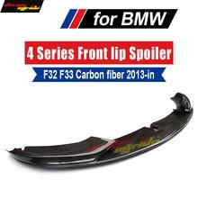 цена на F32 F33 Carbon Fiber Front Bumper Lip Spoiler for BMW 4-Series F32 F33 420i 428d 435d 420d 428d 435d M-tech M-Sport Bumper 2013+