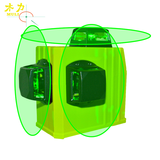 muli Green Laser Level Meter 12 Linhas Verde 360 Degree Vertical Lines Super Powerful Cross With Oblique Line For Measurement
