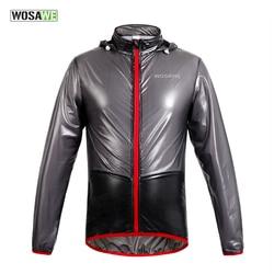WOSAWE Bicycle Cycling Jacket Multi-function Rain Coat Jackets Waterproof Windproof MTB Mountain Road Bike Jersey with Hooded