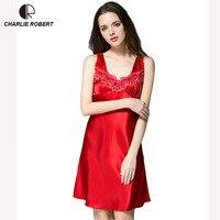 New Women S Sexy Lingerie Satin Silk Night Dress Plus Size M 4XL Sleepwear 9 Color