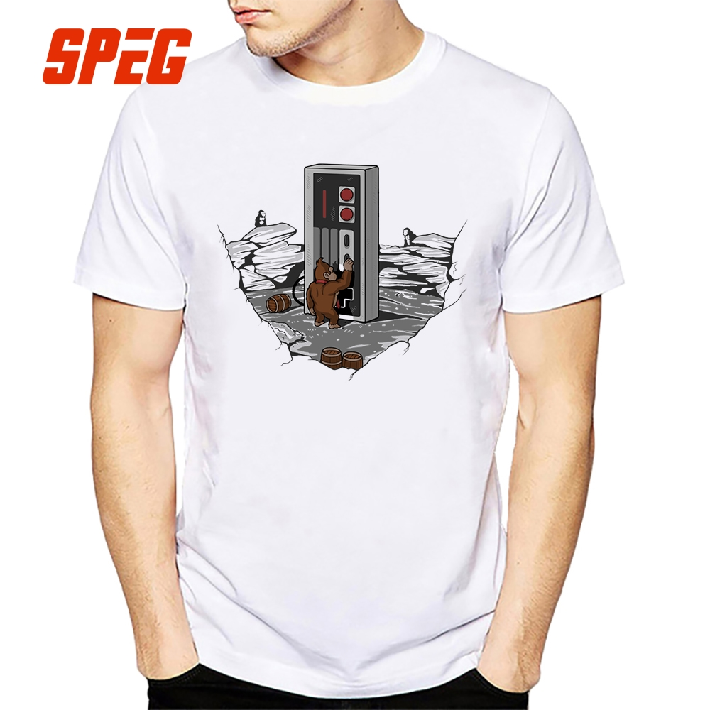 Dawn of Gaming Crewneck Tee Shirts Men Cartoon Classical T Shirts 100% Cotton Short Sleeve Popular T-Shirt Funny Big Size