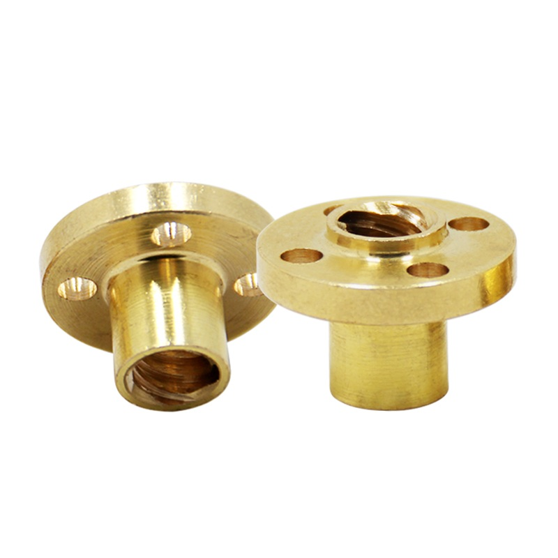 10pcs T8 8mm Brass Nut For Lead Screw 3D Printer Trapezoidal Spindle Screw