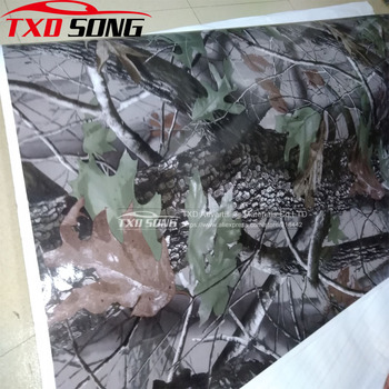 10/20/30/40/50/60x152CM Realtree Camouflage Car Vinyl Wrap Sticker Real Tree Leaf Digital printing Tree Camo car vinyl sticker image