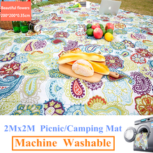 2Mx2M Machine Washable Camping Mat Picnic mat Outdoor Beach tent Mats Blanket Plaid rug Moisture proof machine wash pad