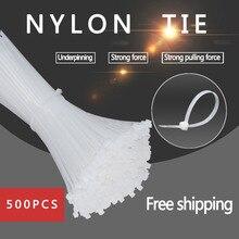 500 шт 3*60/3*80/3*100/3*120/3*150 мм фиксированные пластиковые обвязочные самоблокирующиеся Нейлоновые кабельные стяжки ремни для проводов