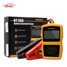 AUTOOL BT360 12V Digital Car Battery Tester for Flooded GEL BT 360 12 Volt Automotive Battery Analyzer CCA Multi language