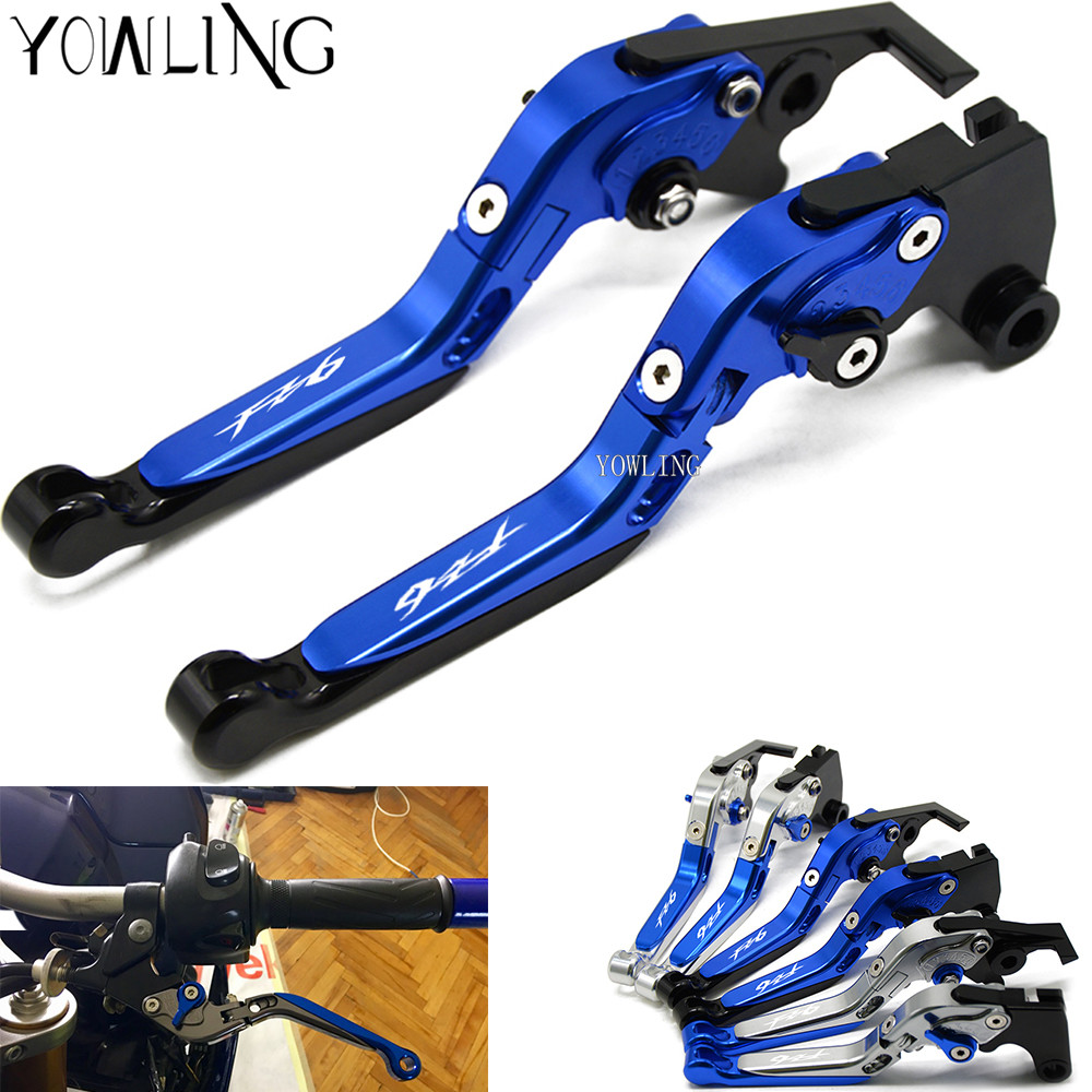 For YAMAHA FZ6 FAZER 2004 2005 2006 2007 2008 2009 2010 FZ6R 2009-2015 Motorcycle Accessories CNC Brake Clutch Levers Handle ergonomic new cnc adjustable right angled 170mm brake clutch levers for yamaha ybr125 2004 2010