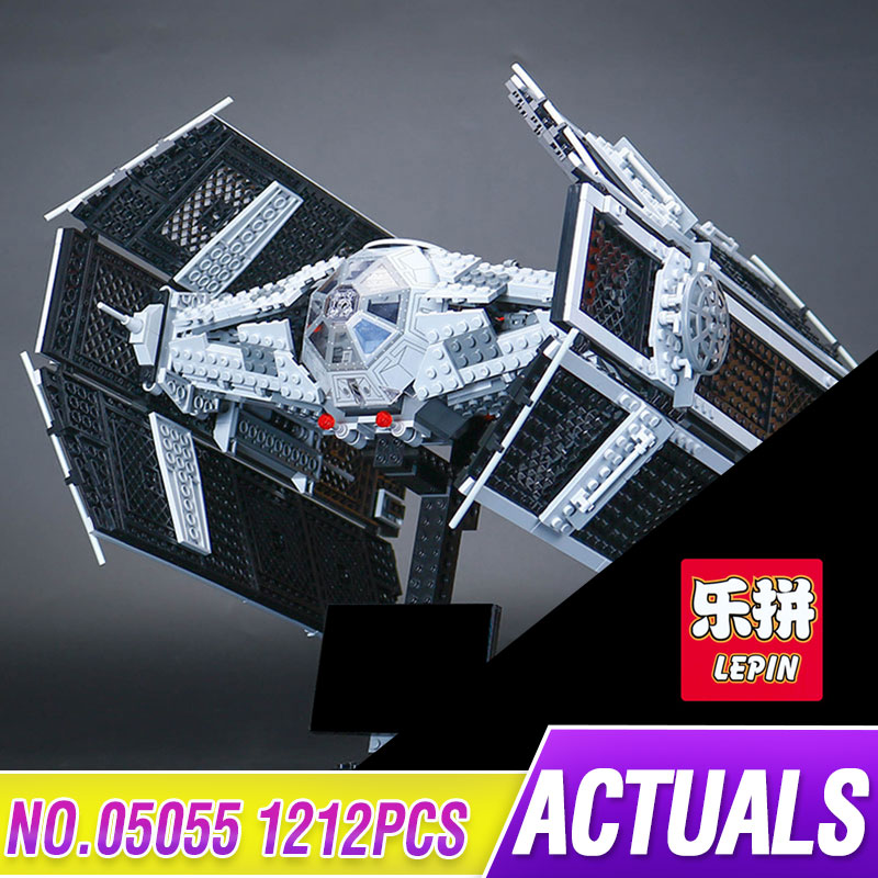 LEPIN 05055 Star 1212Pc Toy Wars The Rogue One USC Vader TIE Advanced Fighter Set 10175 Building Blocks Bricks Educational Toys lepin 05055 star 1212pcs the rogue one usc vader tie advanced fighter set 10175 building blocks bricks educational war