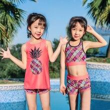 От 2 до 12 лет, детский купальник Танкини высокого качества для девочек, детский подростковый купальник, спортивные бикини шорты Детский купальник для девочек