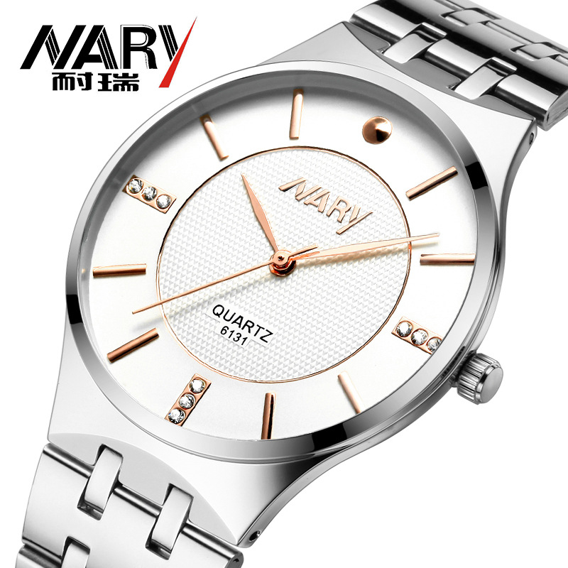 Men Watches Top Brand NARY Luxury Fashion Casual Watch Men's Quartz Watches Dress Wristwatches Steel Quartz-Watch Reloj Hombre kids watches children silicone wristwatches doraemon brand quartz wrist watch baby for girls boys fashion casual reloj