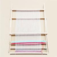 Natural Color Wooden Knitting Machine Knitting Loom Handmade Loom Yarn Weaving Machine Toy 70*50*3cm New Year's Christmas Gift