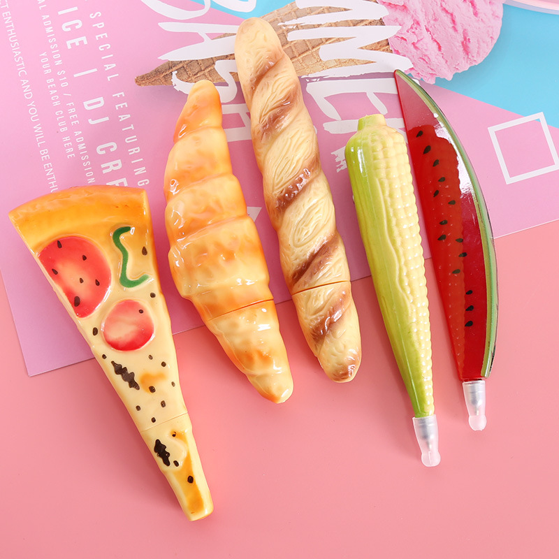 10pcs lot Korean Stationery High Quality Food Bread Ballpoint Pen Creative Office Fruit and Vegetable Pens Prize Gifts Pens