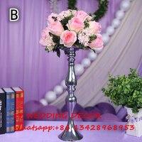 Pink tabla central de la boda bola de la flor tabla de la boda decoración flores Rose flor principal de Carreteras 10 unids/lote