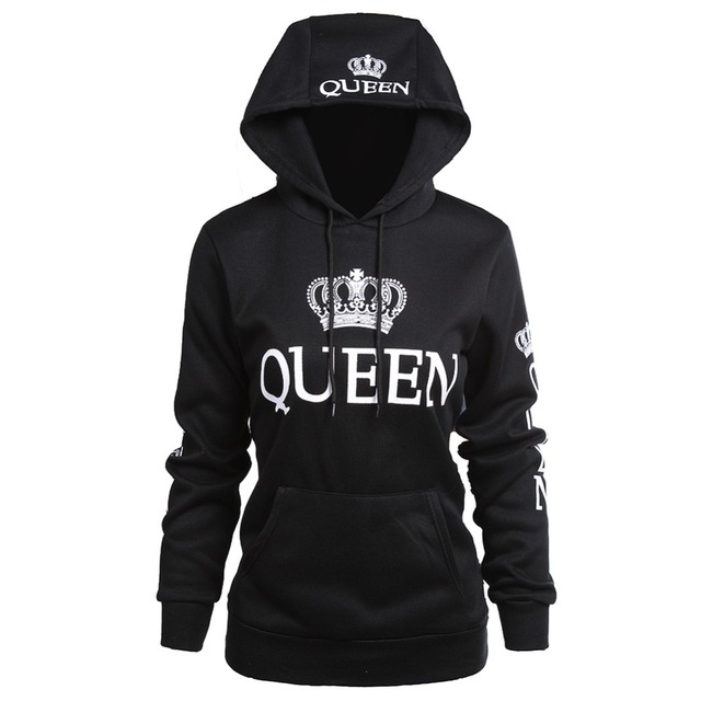 H&R KING and QUEEN Matching Couple Hoodie Set Valentine's Day Gift His & Hers Hoodies