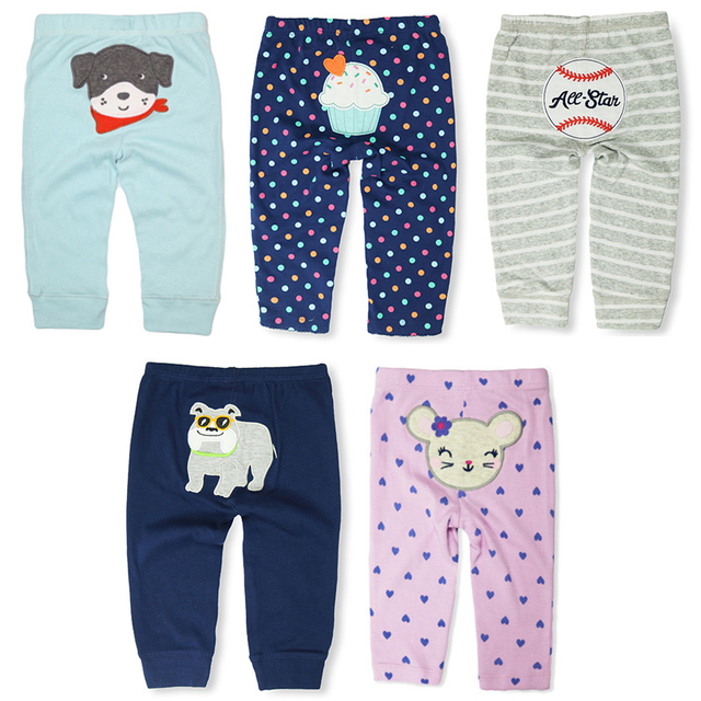 Casual Elastic Waist Cotton Pants for Babies 1