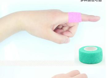 100 roll /lot Elastic Adhesive Bandage Finger tape Volleyball New Finger protection 2.5cm x 4.5m Stretched Hot Sale