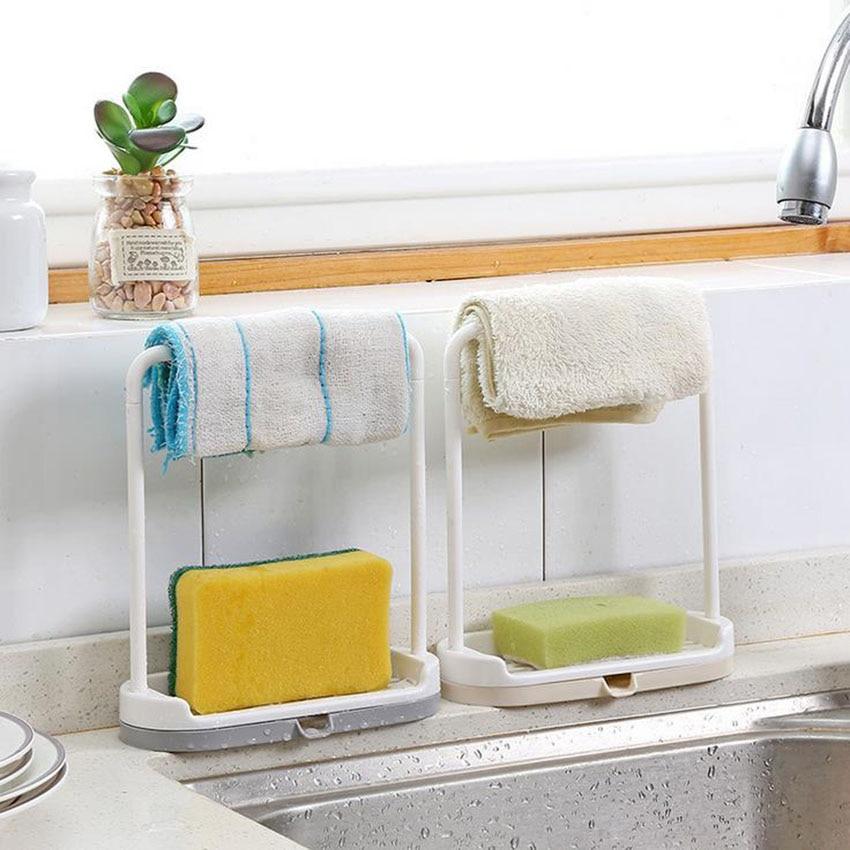 Креативная полка для кухонной ванной комнаты двойная вешалка для полотенец стоящая мыльница без штамповки Пластиковая полка мыльница