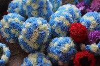 1 dozen 20cm rose artificial flower ball wedding party DIY hanging kissing flower ball exhibation corridoe decoration flower