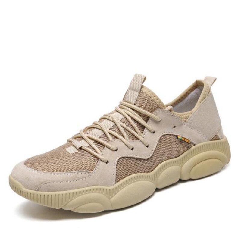 Nouveau 2019 printemps et d'été 48 grande taille décontracté chaussures pour hommes 46 mouche tissé maille chaussures 47 noir, marron Appartements chaussures de sport Herrskor