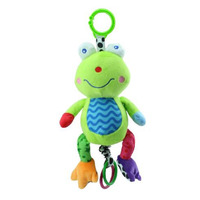 Baby Music Soft Crib Hanging Comfort Cartoon Frog Toys 0-12 Month Baby Bed Play Rattle Teether Training Baby Toy