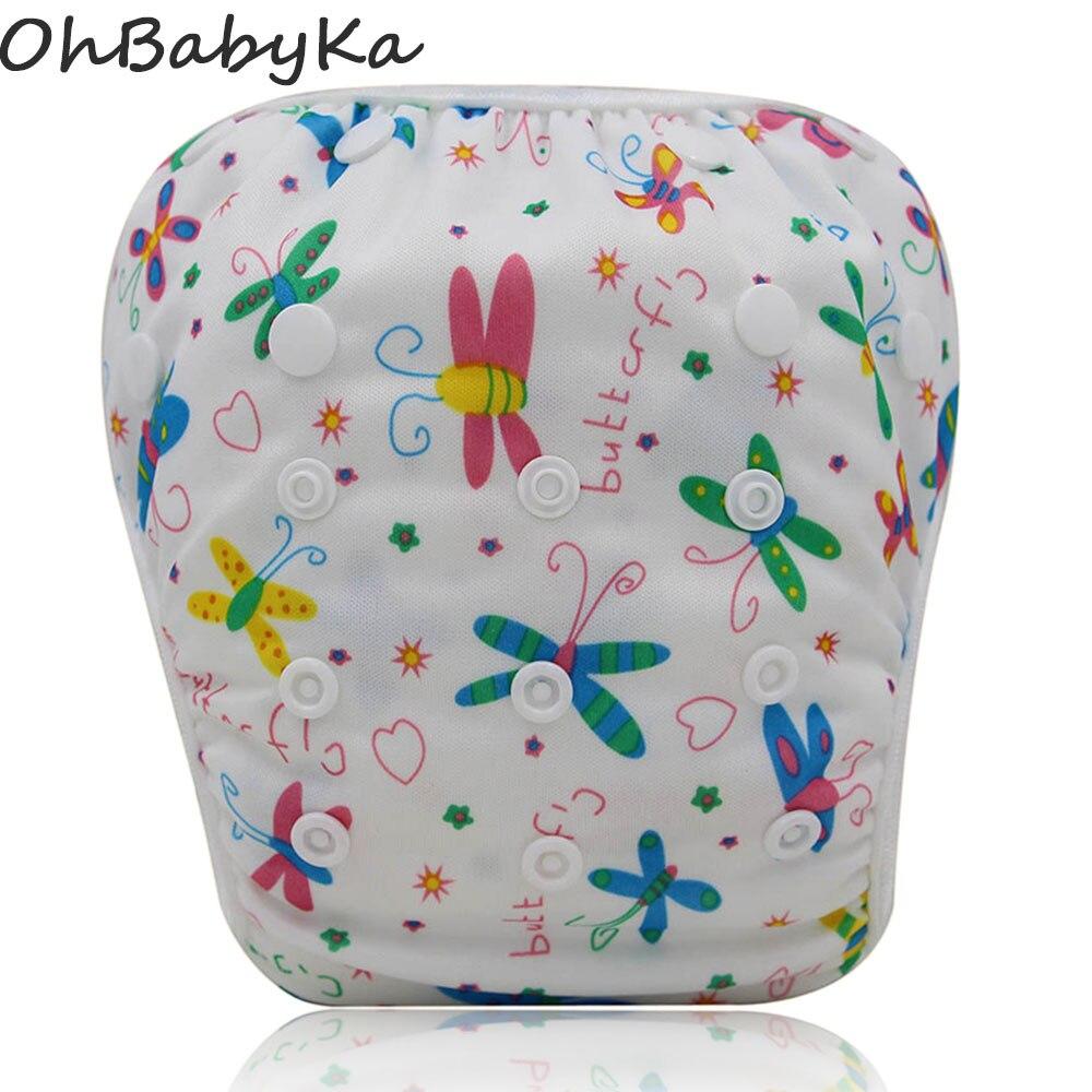 ohbabyka nuoto pannolini lavabili per neonati pannolini coprono bebek mayo regolabile swim copertura del pannolino riutilizzabile