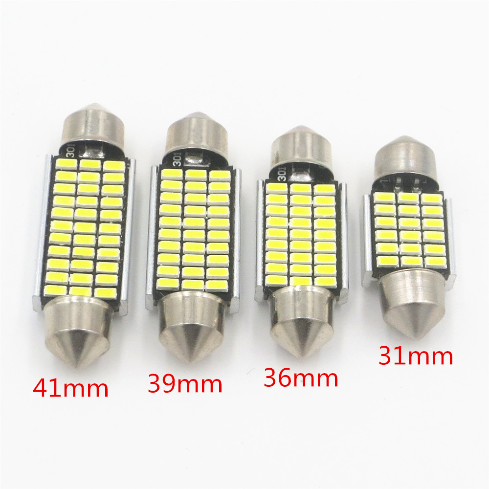 CYAN SOIL BAY 1pcs Car Interior Light 31mm 36mm 39mm 41mm SMD LED Bulbs C10W C5W Festoon Mirror Dome Reading Door Number Lamp 2pcs 12v 31mm 36mm 39mm 41mm canbus led auto festoon light error free interior doom lamp car styling for volvo bmw audi benz