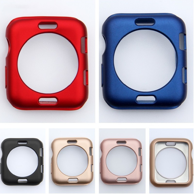 For Apple Watch Series 3 2 1 38mm 42mm Cases Protector Soft TPU Case Protective Perfect Match Bumper Watch Accessorie