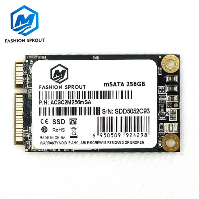 Genuine 256GB SSD mSATA 3 SSD Mini SATA Solid State Drive notebook Module For Dell M4500 M4600 M4700 M6400 M6500 M6600 M6700