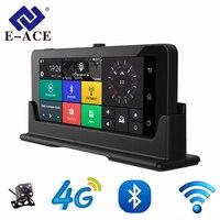 E ACE 4 г Автомобильный видеорегистратор Камера ADAS Android авторегистрируются с gps навигации Full HD 1080 P видео Регистраторы два Камера s Vehicele Blackbox