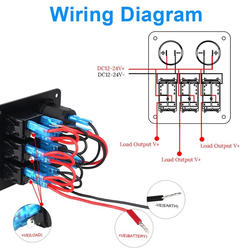 3 Gang Switch Panel Wiring Diagram - Wiring Diagram List Marine Rocker Switch Pole Wiring Diagram on