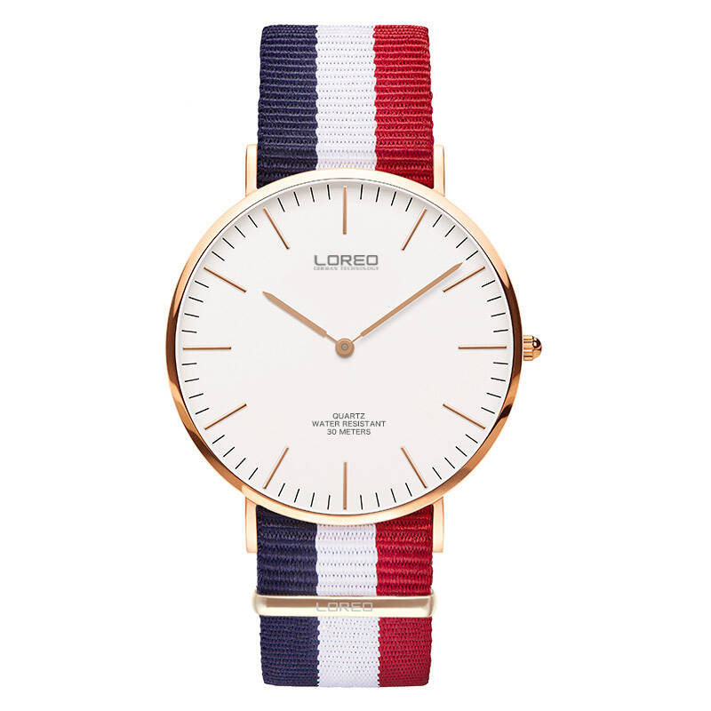 LOREO 5106 Germany bauhaus watches lover luxury brand 30m ultra-thin simple canvas classic fashion simple elegant lovers' watch brand 1 pair luxury simple fashion ultra thin lovers watch men page 6