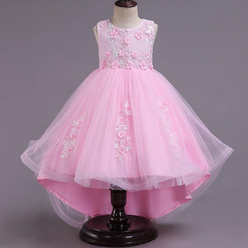 Children clothing Lace back tulle child   girl     flower     girl     dress   princess party wedding elegant kids   dress   baby   girl   clothes