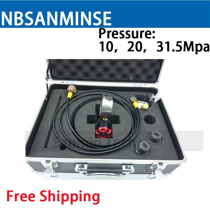 NBSANMINSE D'azote De Charge Outil Hydraulique Composants en acier Au Carbone et En Acier Inoxydable 304 Type Boîte À Outils