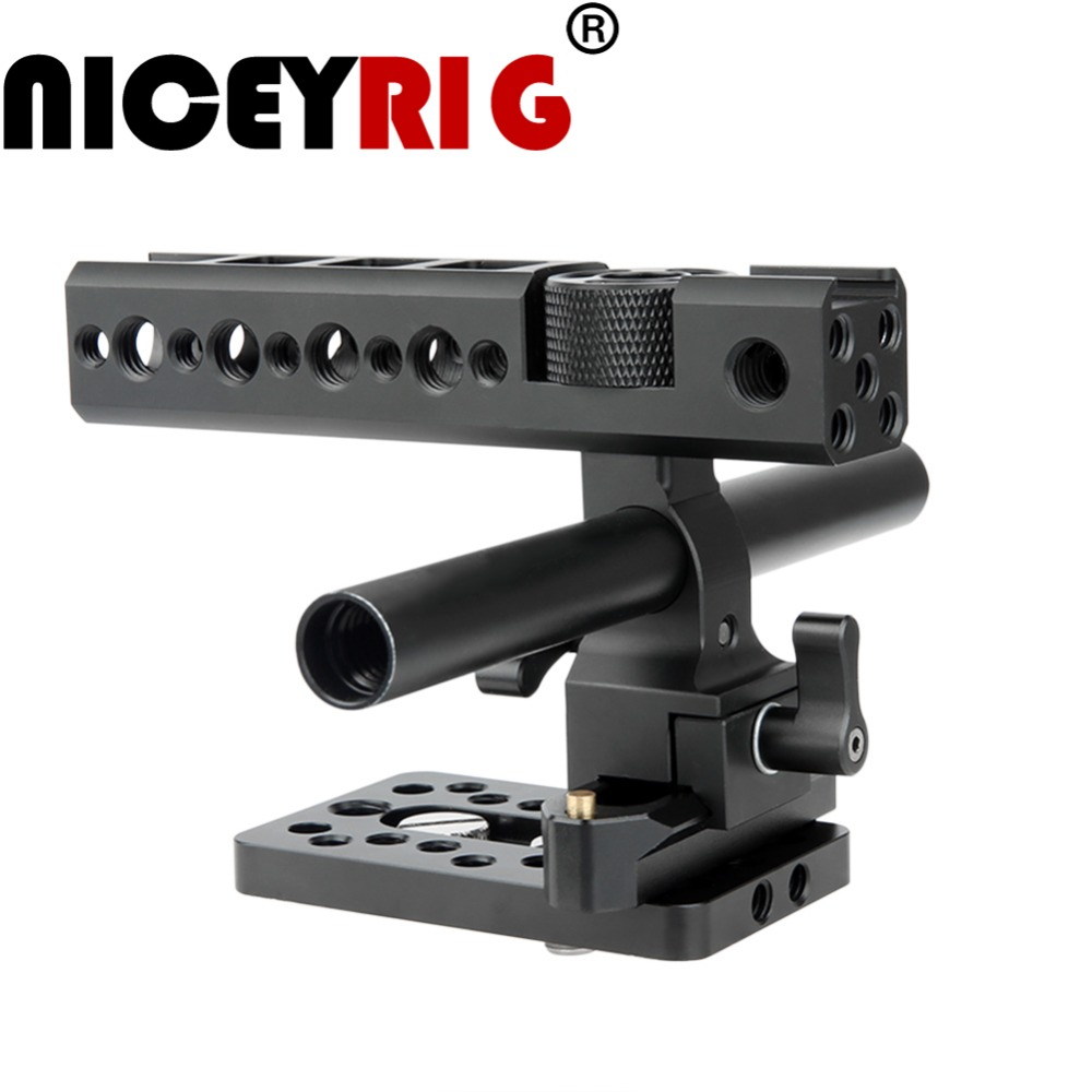 NICEYRIG Nato Active Top Handle Grip for Camera Cage Cheese Handle with 15mm Rod Nato Rail Cold Shoe Mount Quick Release Plate цена