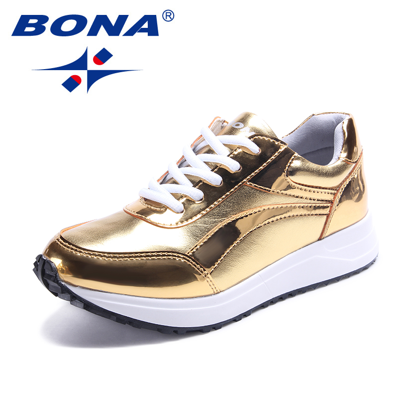BONA New Arrival Style Women Running Shoes Lace Up Women Athletic Shoes Outdoor Jogging Sneakers Comfortable