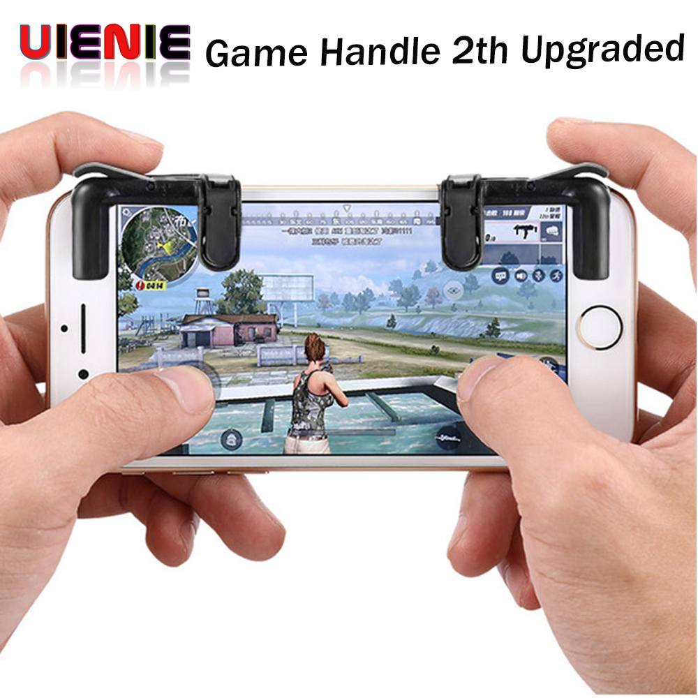 Smart phone Mobile Gaming Trigger Shooter Controller Knives out Rules of Survival Mobile Game Fire Button Aim Key game handle