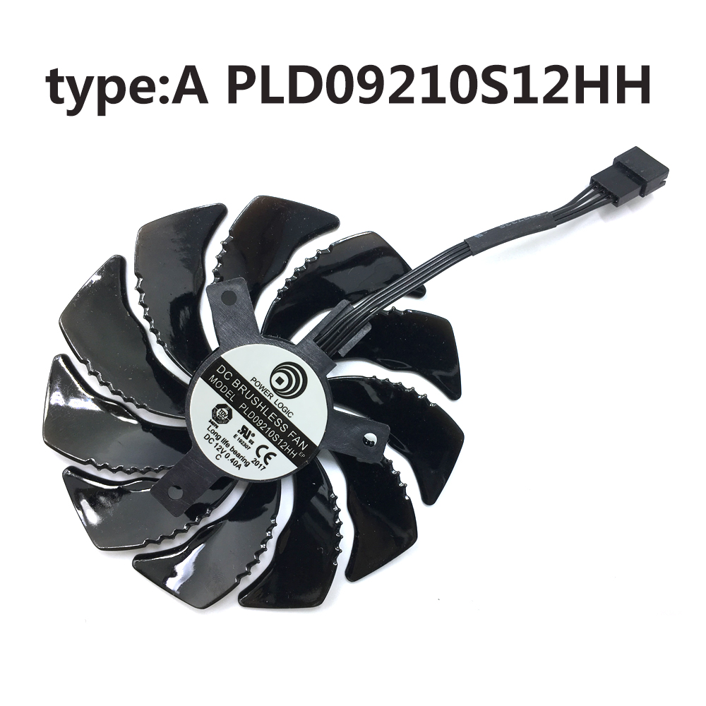 Image 2 - new 85mm PLD09210S12HH video card fan For Gigabyte GTX 1050 1060 1070 960 RX 470 480 570 580 Graphics Card Cooler Fan-in Laptop Cooling Pads from Computer & Office