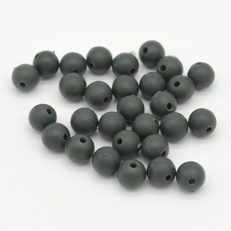 Carp Fishing Beads 100pcs/lot Diameter 8mm/6mm Soft Rubber Carp Fishing Rig Beads Carp Fishing Accessories