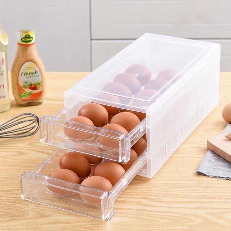 Oeufs Transparet cuisine boîtes fraîches couvercle de conteneur Regrigerator bouteilles de rangement bocaux boîte d'organisation maison accessoires fournitures
