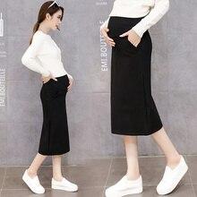 Я буду новая весна материнства беременных женщин ткань длинные юбки в хан издание прилив мать беременный живот платье