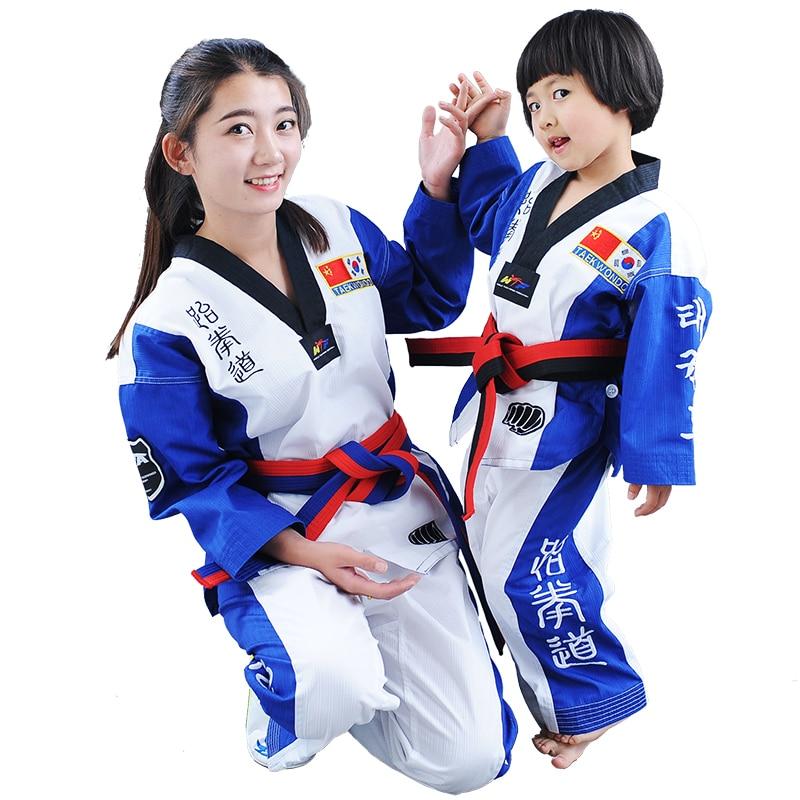 ФОТО Comfortable ITF Taekwondo Uniform White Professional Taekwondo Dobok Exquisite Embroidery Taekwondo suit for Children Adult
