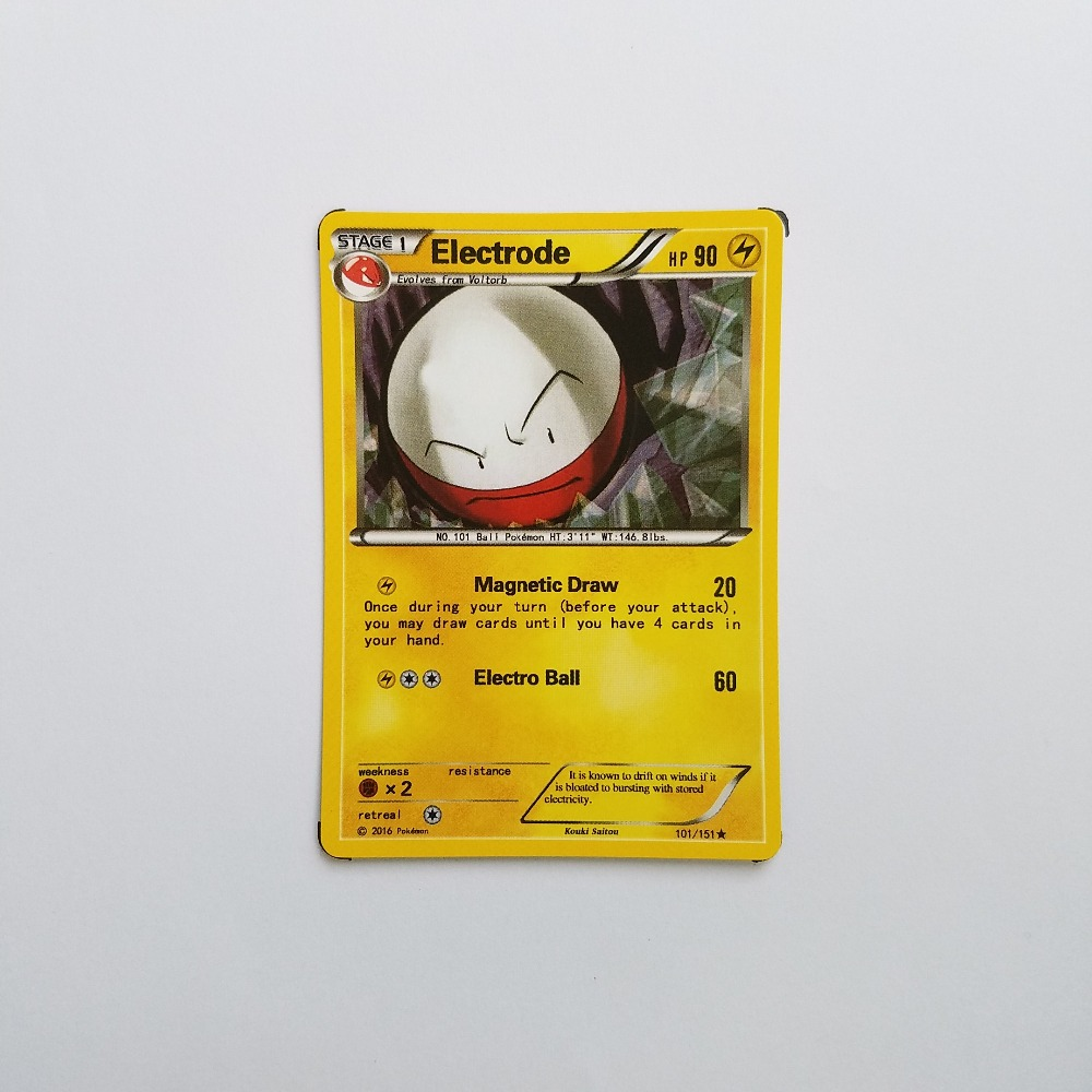 Pokemon Card Single Sale B10006 Electrode Electric Type STAGE 1 Ordinary Card Play Anime Toys Cards Game Trading Collection