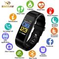 BINSSAW Smart Uhr Männer Frauen Armbanduhr Sport Uhr Fitness tracker Pedometer Herz Rate Blutdruck Monitor LED SmartWatch-in Digitale Uhren aus Uhren bei