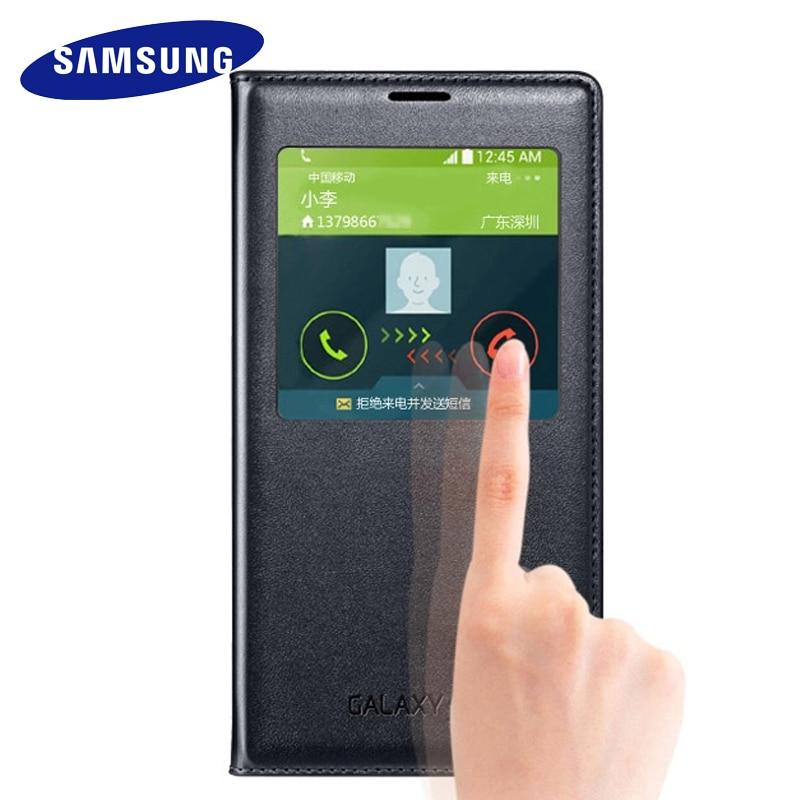 Samsung Galaxy S5 caso 100% di Vibrazione Originale Casi di cuoio di lusso della copertura del silicone finestra di visualizzazione Intelligente sonno fondina caso di protezione S5